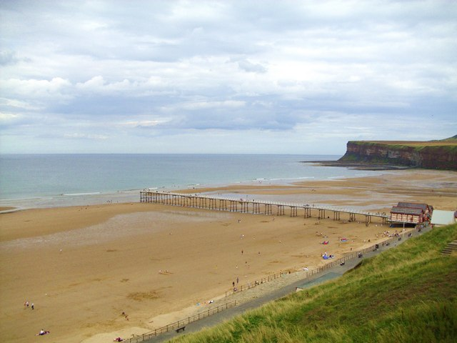 Pier and sands at Saltburn