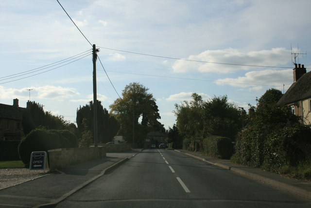 Road through Milton Under Wychwood