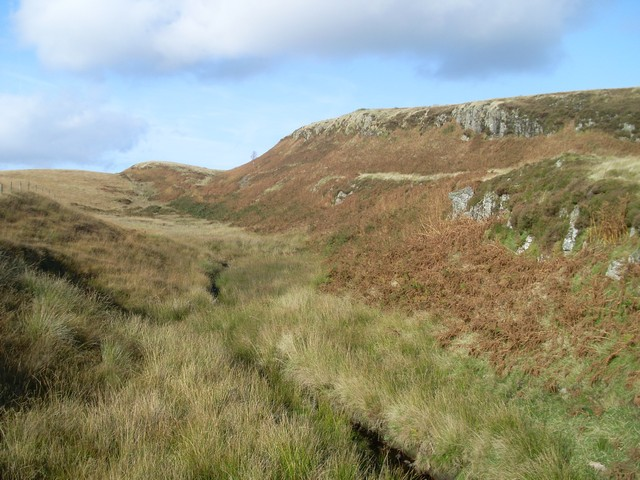 Tributary valley of Burncrooks Reservoir
