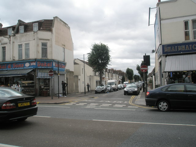 Junction of The Broadway and Abbotts  Road