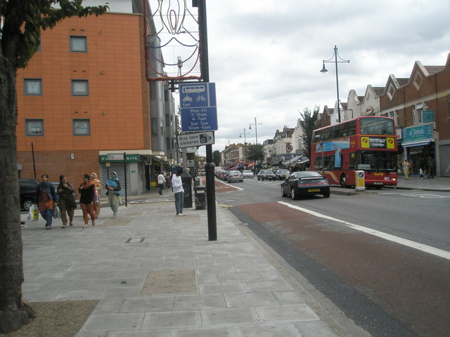 Approaching the junction of Dane  Road  and The Broadway