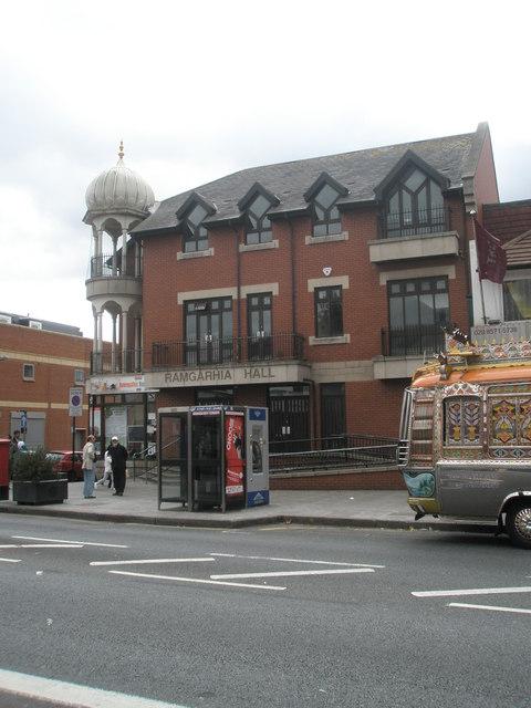 Ramgarhia hall in The Broadway