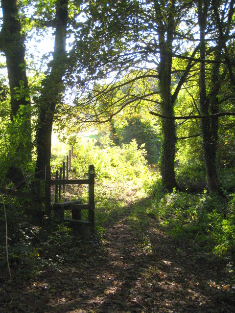Footpath to Pencoose from Trehane Wood