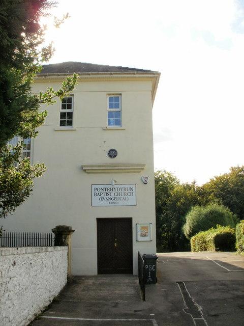Pontrhydyrun Baptist Church, NE entrance