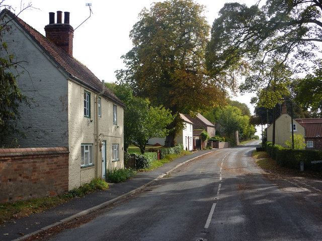Road through Saxby All Saints