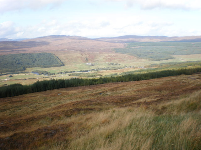 Tomchrasky Glen Moriston from above Coire an Eòin track