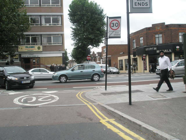 Junction of The Broadway and Lancaster Road