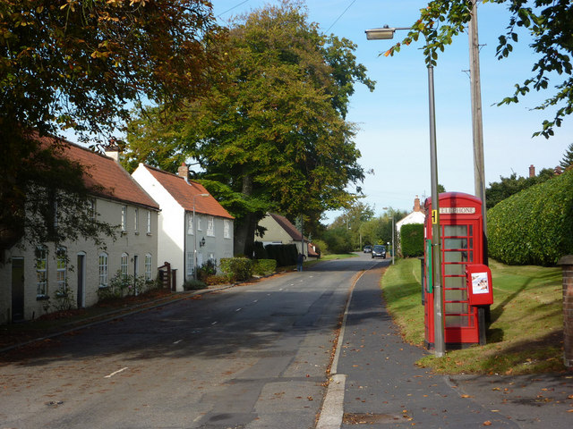 Village scene, Saxby All Saints