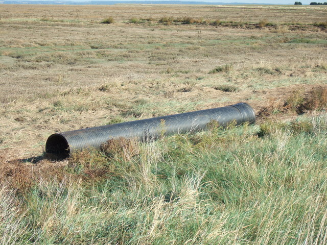Large tube on the edge of The Wash