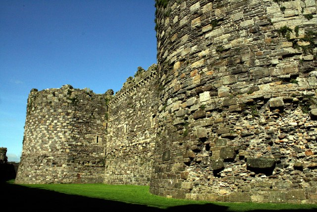 The Walls of Beaumaris Castle