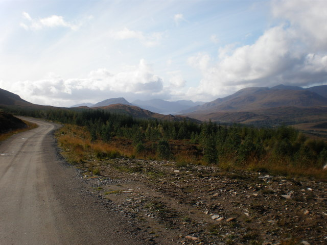 Looking west from windfarm road