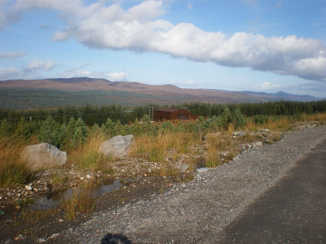 Electricity Works by windfarm road