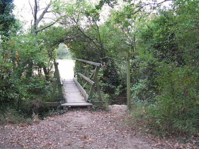 Footbridge over small tributary of the River Adur