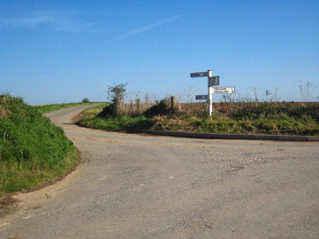 Crossroads near Trehane Vean