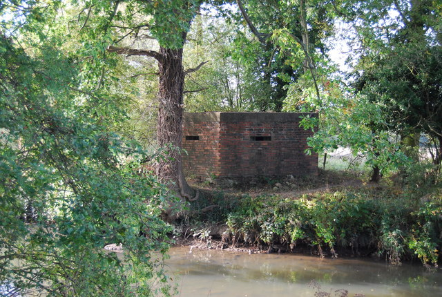 Pillbox by the River Medway