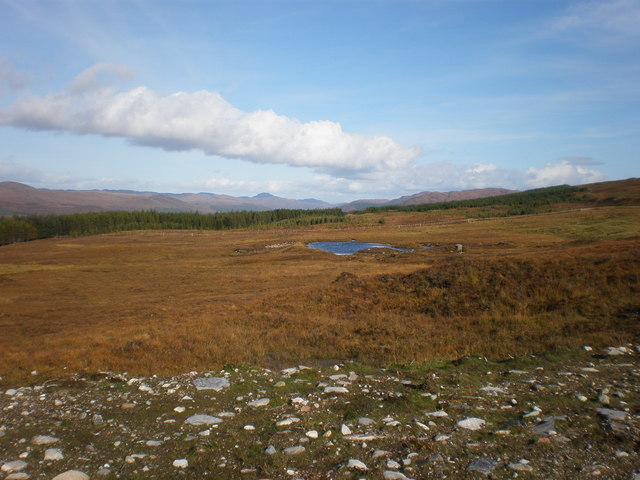 Small Lochan in Allt na Crìche and Allt a' Choire Bhuidhe Watershed