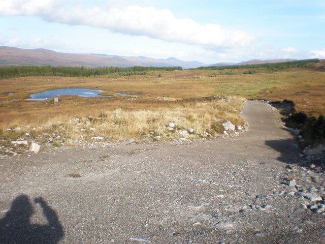 Lochan track junction in Coire Buidhe