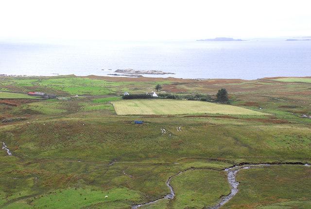 Looking Westward toward Balmeanach farm
