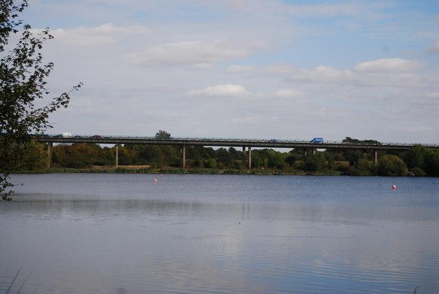 A21 flyover across Haysden Lake