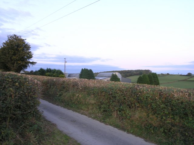 Farm access road not far from Llansawel