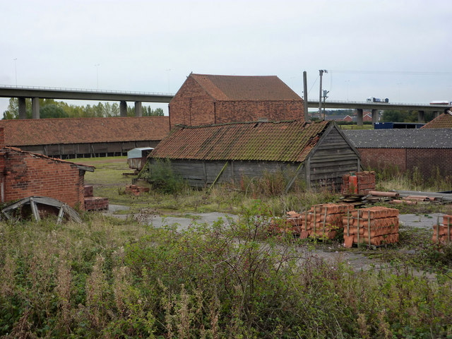 Old brickworks by the Humber