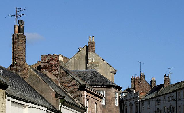 Chimney stacks and pots at Berwick-upon-Tweed