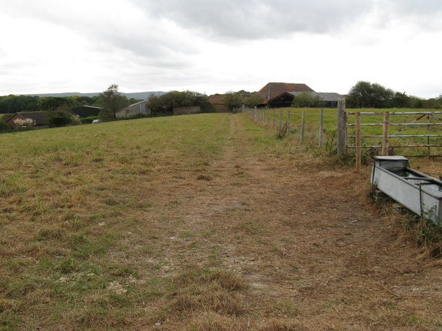 Cattle trough by path to South Tottington Sands