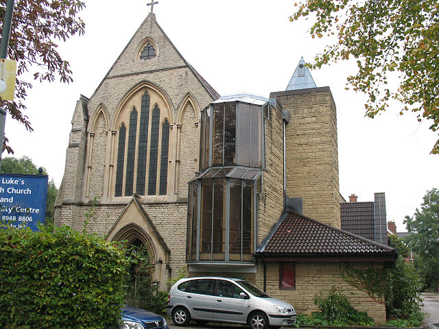 St Luke's church, Kew - west end