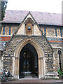 TQ1876 : St Luke's church, Kew - south porch by Stephen Craven