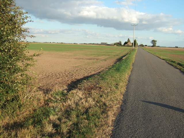 Hospital Road near Sutton Bridge