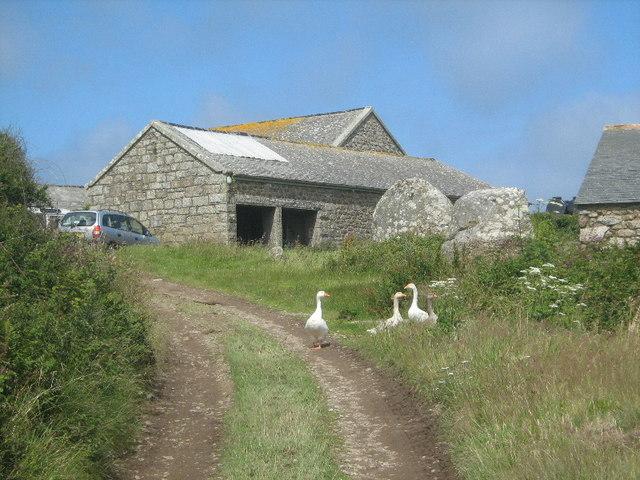 Farm buildings at Treveal