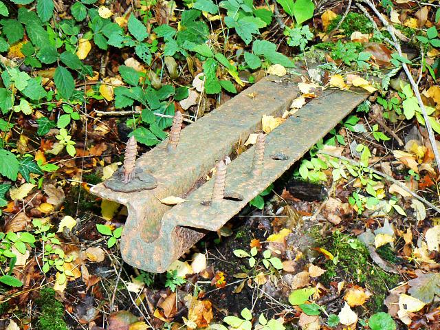 Old rail, Swindon and Highworth Light Railway, Stanton Park, Swindon