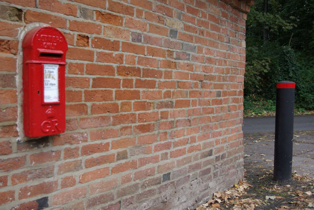 Post box at Brownsover