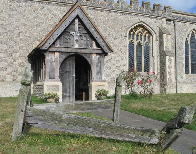 Wooden Grave Markers, All Saints Church at Marsworth