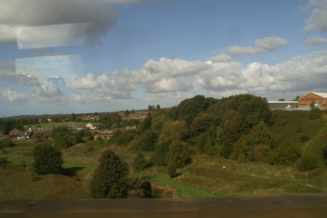 The view of the Sankey Valley from Stephenson's Viaduct, as seen from the 12.01 from Newton-le-Willows