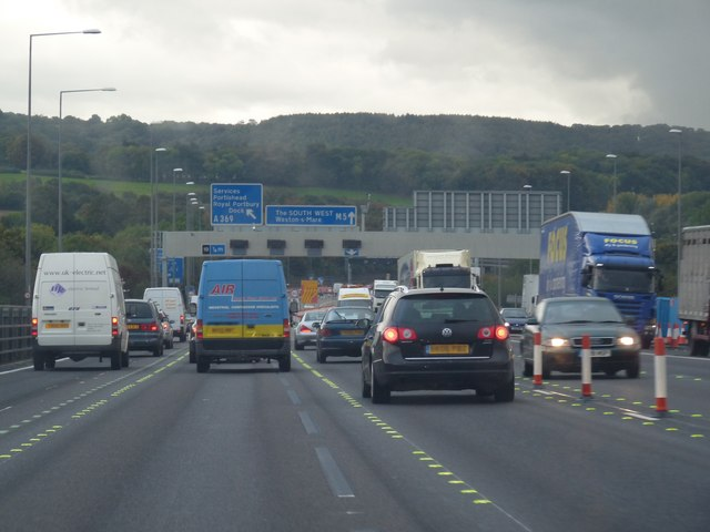 Approaching Junction 19 on the M5