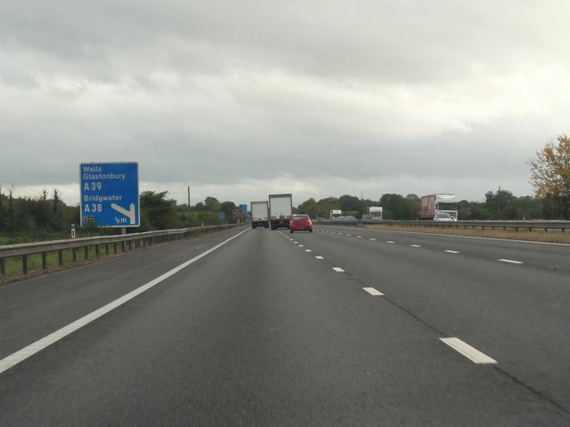 Approaching Junction 23 on the M5