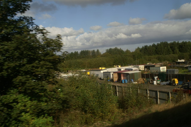 Travellers' site, as seen from the 12.01 from Newton-le-Willows
