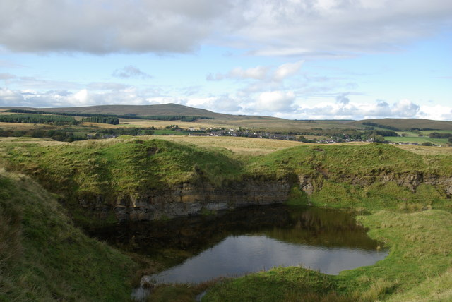 Flooded quarry south of Muirkirk
