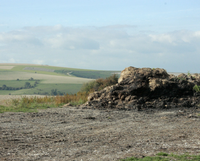 2009 : Muck heap at the top of the hill