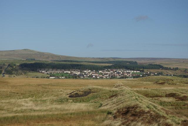 Spoil heaps & a view to Smallburn