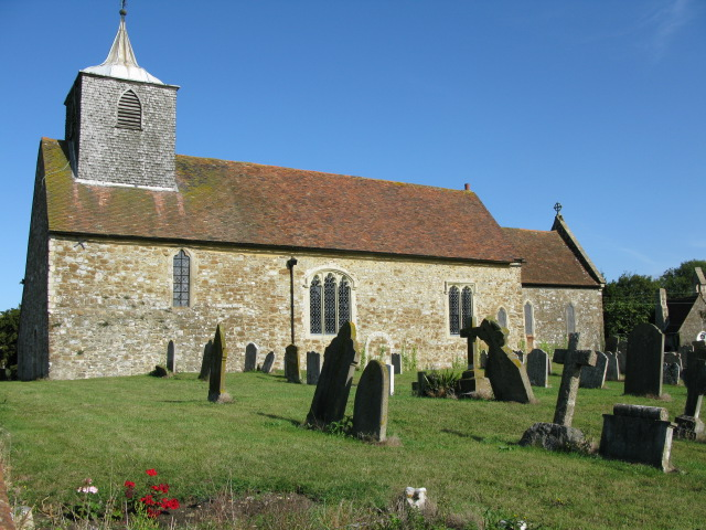 The church of St Nicholas in the sunshine