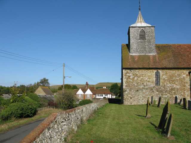 St Nicholas church on bank above Newington Road