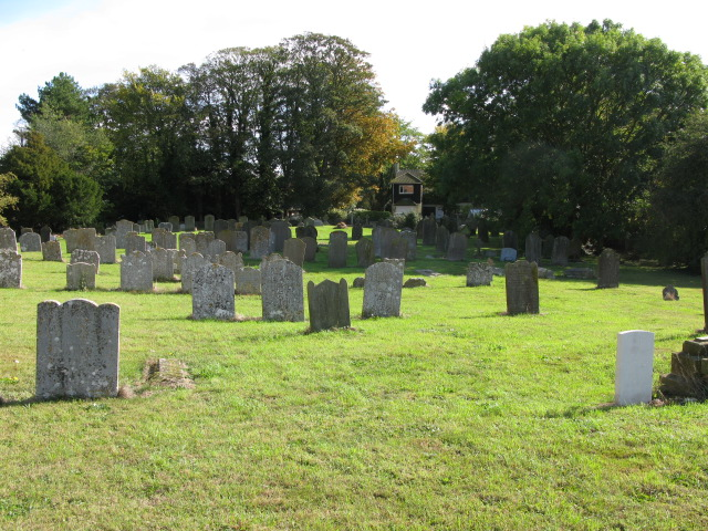 The graveyard of St Nicholas church