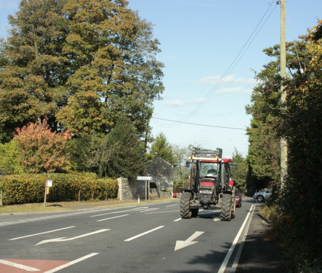 2009 : A36 with tractor, near Limpley Stoke