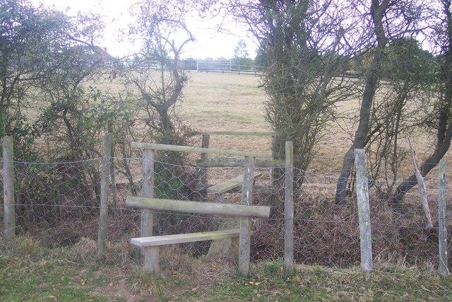 Double stile and footbridge near Cripple Hill
