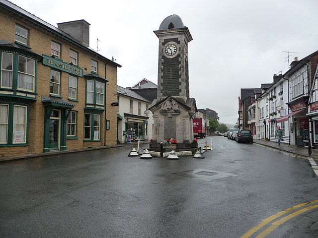 The centre of Rhayader
