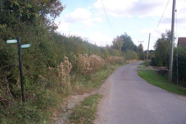 Gadsby Lane near Oaks Farm