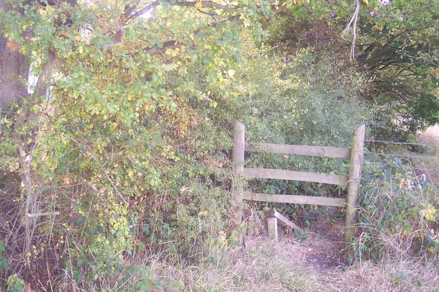 Broken stile near Beale's Farm