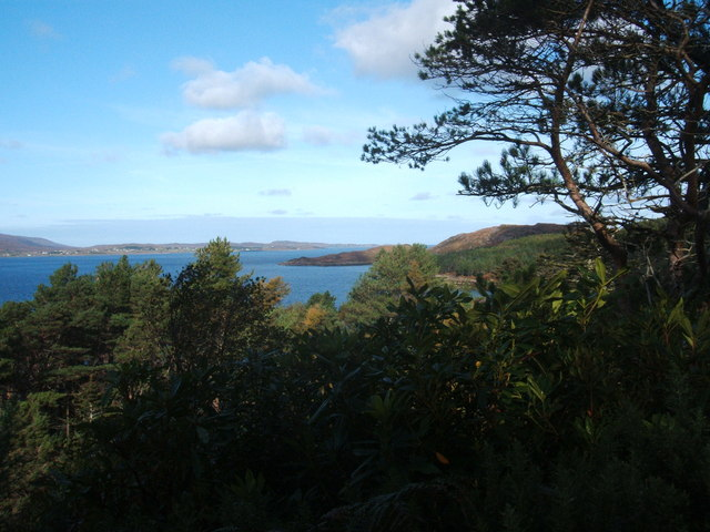 View North-west from Inverewe Gardens